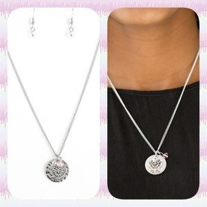 """Jewelry - """"Faith"""" Silver Necklace with Earrings"""